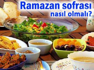 ramazan sofrası ne yemeli