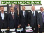 Pazar üniversite heyeti RTEÜ Rektörünü ziyaret etti